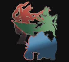 Mega Blaziken, Swampert, and Sceptile by Lfcjdp