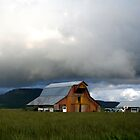 Barn and Storm by oregonartphotos