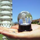 Snow globe in Pisa by Celia Bell