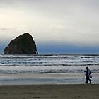 Beach Walker by oregonartphotos