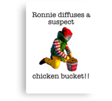 Ronnie diffuses a suspect chicken basket Canvas Print