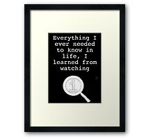 I learned from watching QI Framed Print