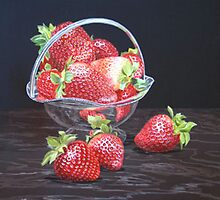 Strawberries by Freda Surgenor