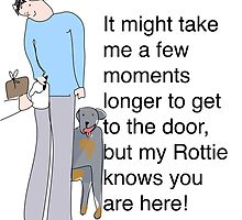 Rottie variation of the Postie Print by toakley