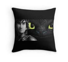 Hiccup and Toothless Throw Pillow