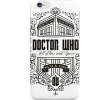 Doctor Who All the Time and Space Vintage iPhone Case/Skin