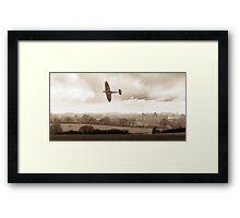 Eagle over England, sepia version Framed Print