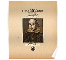 Shakespeare First Folio Front Piece Poster