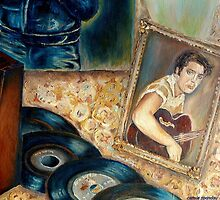 ELVIS PRESLEY COUNTRY BOY PORTRAIT OF A LEGEND AND ROCK AND ROLL STAR by Carole  Spandau