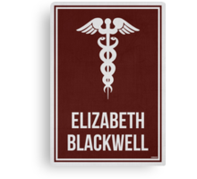 ELIZABETH BLACKWELL - Women in Science Collection Canvas Print