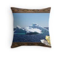 Iceberg-a ...on close up Throw Pillow