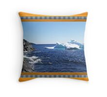 Iceberg-1...at the beach Throw Pillow