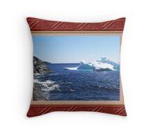 Iceberg-3...at the beach Throw Pillow