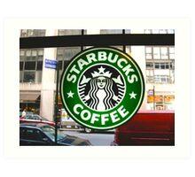 Time Square Starbucks Art Print
