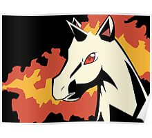 Rapidash in Shadows Poster