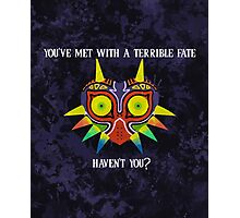 Majora's Mask Splatter (Quote No Background) Photographic Print
