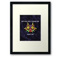 Majora's Mask Splatter (Quote) Framed Print