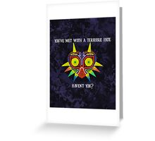 Majora's Mask Splatter (Quote) Greeting Card