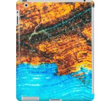 Blue and Brown Agate Pattern iPad Case/Skin