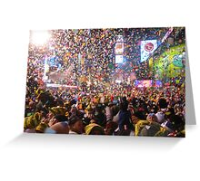 New Years Eve In Time Square Greeting Card