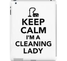 Keep calm I'm a cleaning lady iPad Case/Skin
