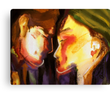 Two Heads, One Heart Canvas Print
