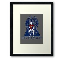 The Iron Throne Paradox Framed Print