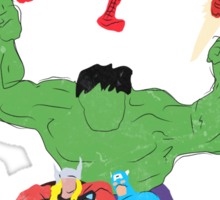marvel superheroes Sticker