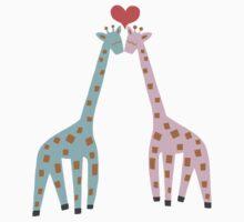 Giraffe Love by TurtlesSoup