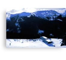 Epic snow scenery Canvas Print