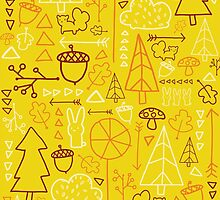 Forest Pattern_Yellow by Cloclo18
