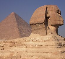Pyramid and Sphinx by Mary  Lane