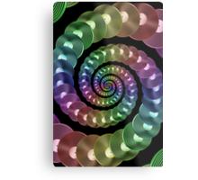 Vinyl LP Record Vortex - Metallic Rainbow Spiral Metal Print