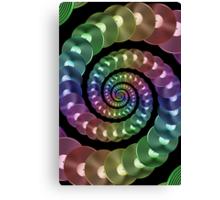 Vinyl LP Record Vortex - Metallic Rainbow Spiral Canvas Print