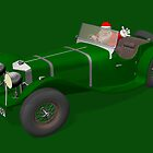 Santa Claus Drives Jaguar SS 90 by Mythos57