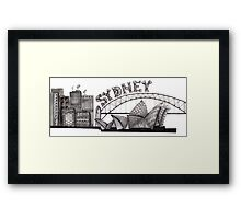Sydney in tangles tshirts and cards Framed Print