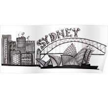 Sydney in tangles tshirts and cards Poster