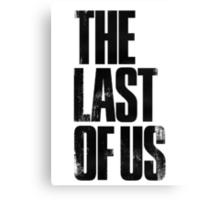 The Last of Us (title) (black) Canvas Print
