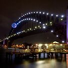 Sydney Harbour Bridge at night by Sheila  Smart