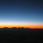 Sunset at 35,000 feet by Eleanor Andrews