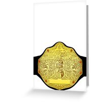 World Heavyweight Champion Greeting Card