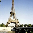 eiffel tower in paint by mwfoster
