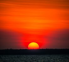 Red Sky Sunset by Russell Charters