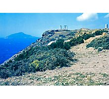 Climbing Cape Sounion, Attica, Greece Photographic Print
