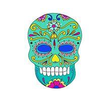 Sugar skull mexican folk art by tanabe