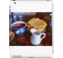 Classical breakfast outmeal waffer and jam  iPad Case/Skin