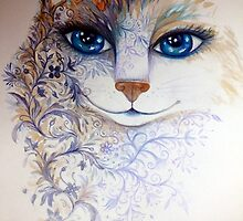 tattoo cat by oxana zaika