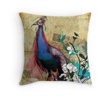 king peacock Throw Pillow