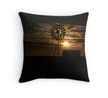 Free State Sunset At The Mill... South Africa Throw Pillow