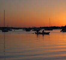 boating sunset by Mandy Fell